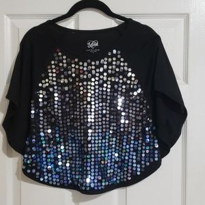 Justice sequined top size 12